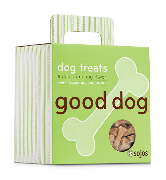Sojos Good Dog Apple Dumpling Flavor Baked Dog Treats 8 Oz