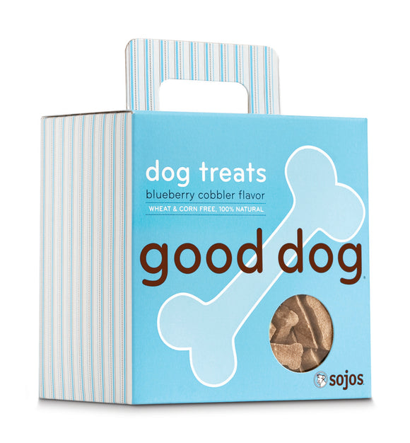 Sojos Good Dog Blueberry Cobbler Flavor Baked Dog Treats 8 Oz