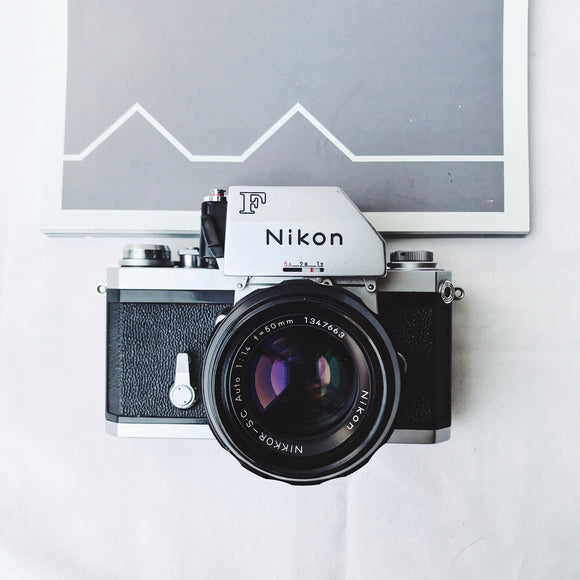Nikon F FTN Silver with Lens