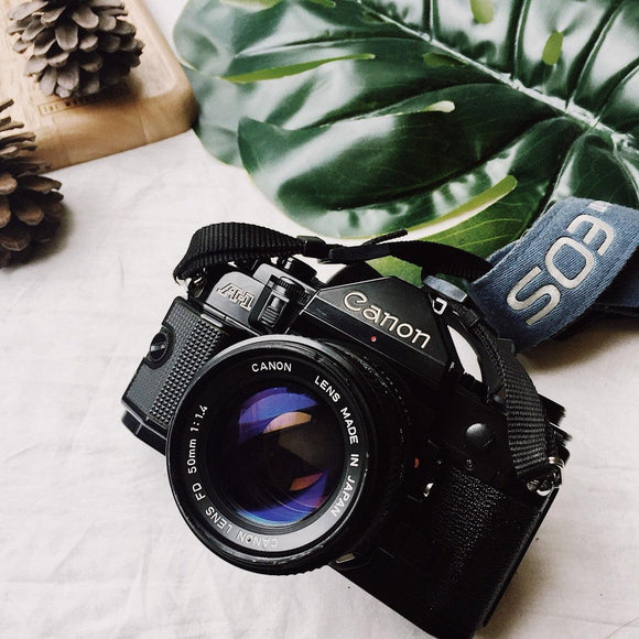 Canon A-1 with Lens