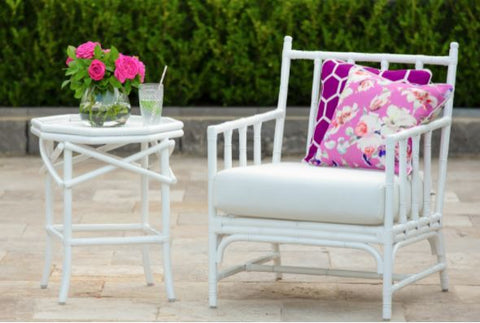 Floral cushions with Geometric patterns