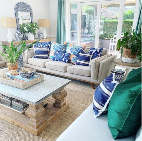 Floral cushion combinations