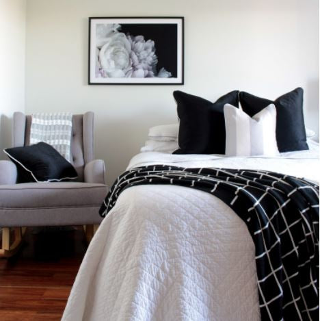 Bedroom styling for winter