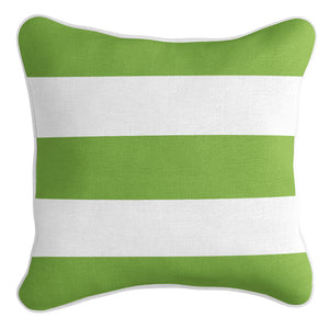 Classic Stripe Cushion Cover - Green