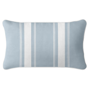 French Stripe Cushion Cover - Duck Egg Blue