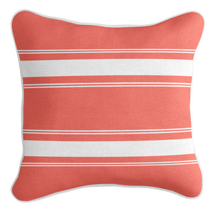 French Stripe Cushion Cover - Coral