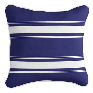 French Stripe Cushion Cover - Navy