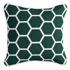 Honeycomb Cushion Cover - Emerald