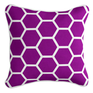 Honeycomb Cushion Cover - Violet