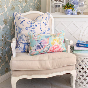 Oriental Romance Cushion Cover - Aqua