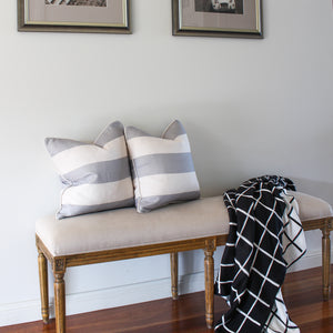Classic Stripe Cushion Cover - Grey