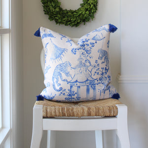 Exquisite Blue and White Combo Cushion Covers
