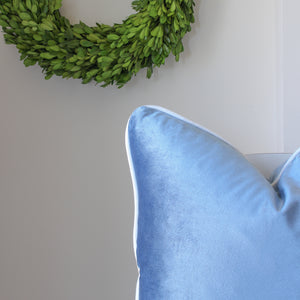 Velvet Cushion Cover - Duck Egg Blue