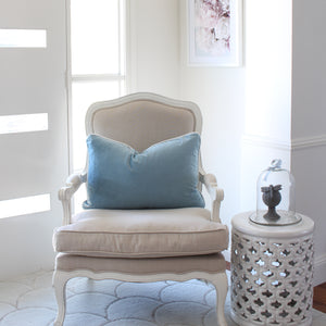Velvet Cushion Cover - Sky Blue
