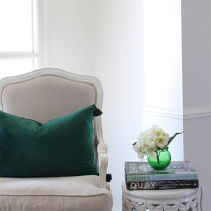 Velvet Cushion Cover - Emerald