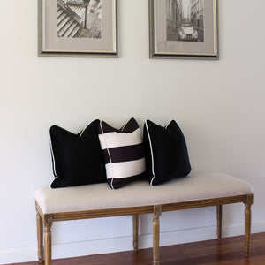 Velvet Cushion Cover - Black
