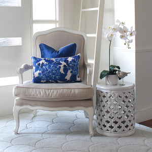 Gift Pack - Classic Blue & White Cushion Covers and Flower