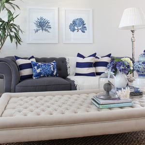 Classic Navy Stripe Combo Cushion Covers