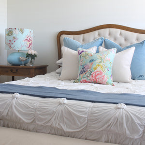 Sky Blue Velvet and Aqua Cushion Covers Combo 2
