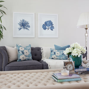 Peony Blue Cushion Covers Combo 2