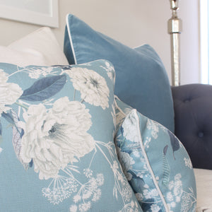 Peony Blue Cushion Covers Combo 1