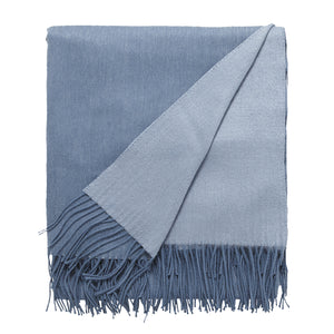 Cashmere and Wool Throw - Marine