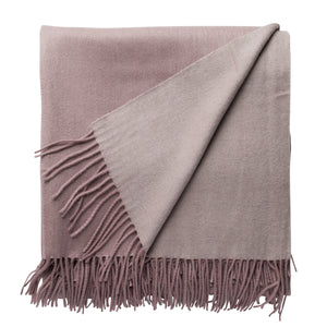 Cashmere and Wool Throw - Nude/Blush