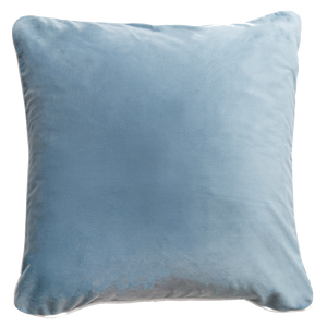 Sky Blue Velvet and Aqua Cushion Covers Combo 1