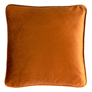 Velvet Cushion Cover - Burnt Orange
