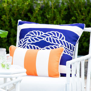 Classic Stripe Cushion Cover - Orange