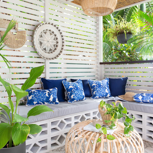 Blue and White Outdoor Cushions