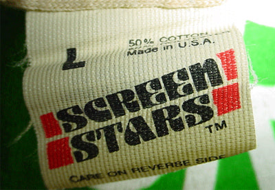 Screen Stars Tag with New Logo - 1981 to 1983