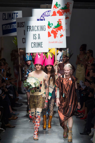 Anti-Fracking runway show