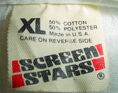 "Screen Stars Tag with Updated ""A"" - 1983 to roughly 1990"