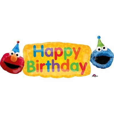 C27 Elmo Birthday Banner