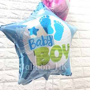 H12 Baby Boy Footprints Star