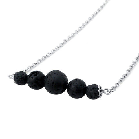 Rose Lava Stone Diffuser Necklace