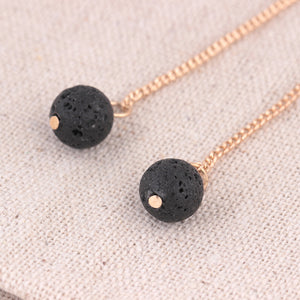 Round Lava Stone Diffuser Earrings