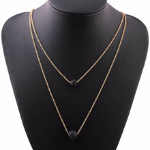 Load image into Gallery viewer, Multilayer Lava Stone Diffuser Necklace