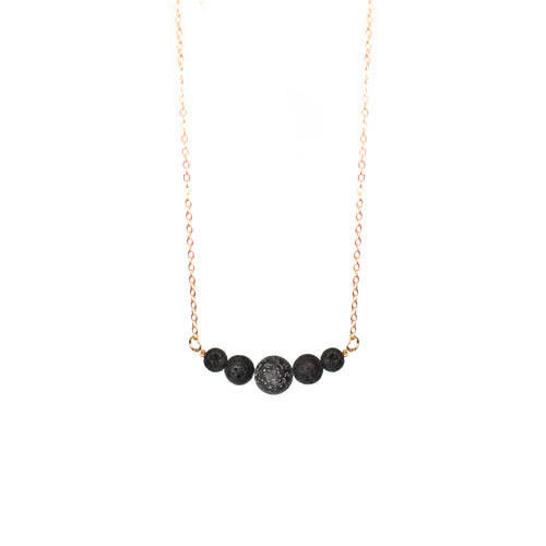 Lava Rock String Necklace
