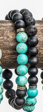 Load image into Gallery viewer, Turquoise Marble Diffuser Twin Bracelets