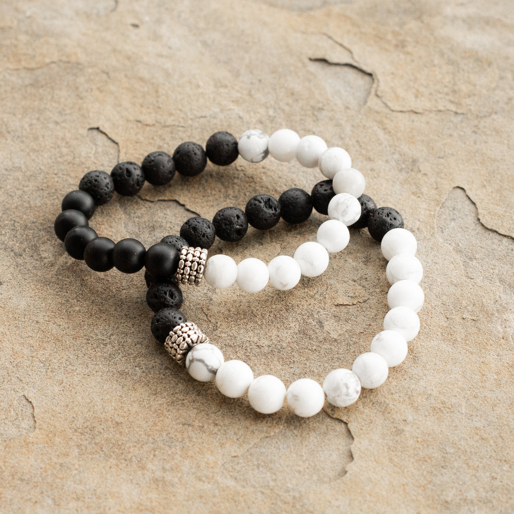 Yin and Yang Twin Diffuser Bracelets
