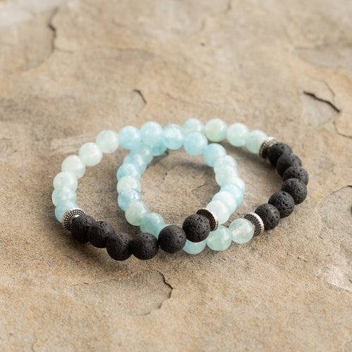 Calm Waters Diffuser Twin Bracelets