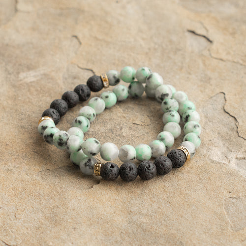 Tailed Jay Diffuser Twin Bracelets