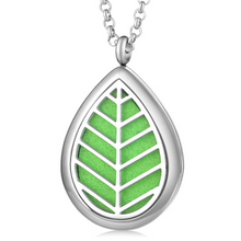 Load image into Gallery viewer, Leaf Aromatherapy Jewelry Locket