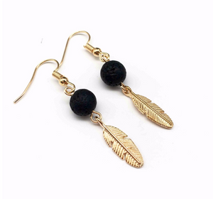 Lava Feather Diffuser Earrings