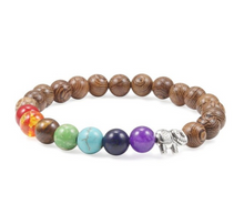 Load image into Gallery viewer, Seven Chakra Lava Bracelet