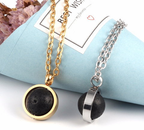 Julia - Lava Stone Diffuser Necklace
