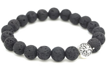 Load image into Gallery viewer, Black Lava Stone Diffuser Bracelet
