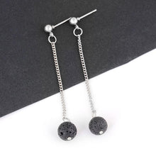 Load image into Gallery viewer, Round Lava Stone Diffuser Earrings